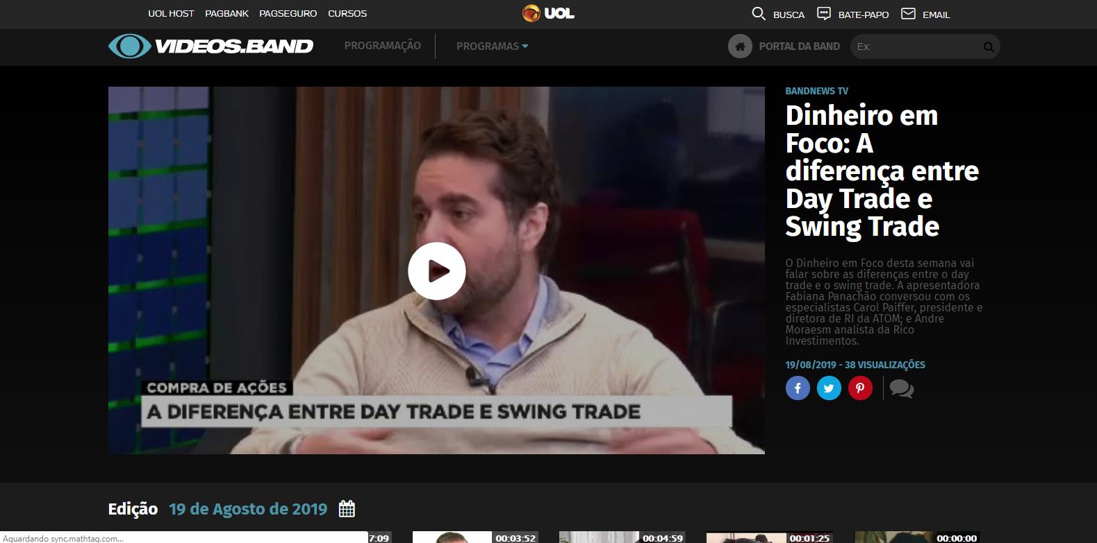 Dinheiro em Foco: A diferença entre Day Trade e Swing Trade