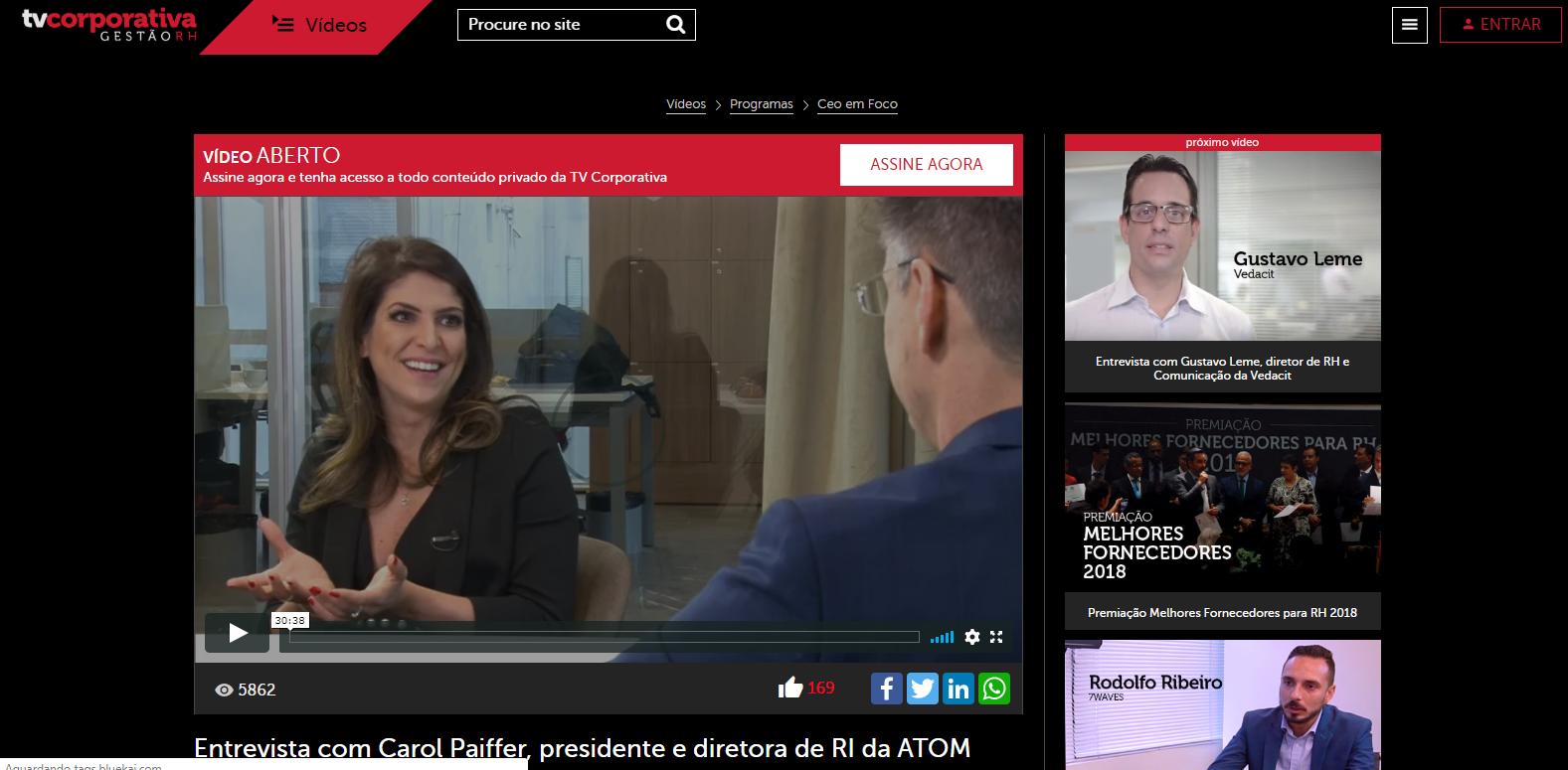 Entrevista com Carol Paiffer, presidente e diretora de RI da ATOM